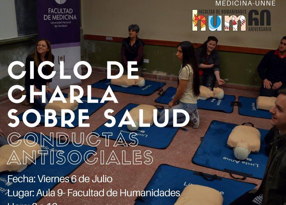 Ciclo de charla sobre salud: conductas antisociales
