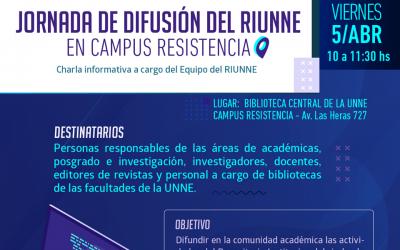 Nueva Jornada de Difusión RIUNNE – Campus UNNE Resistencia